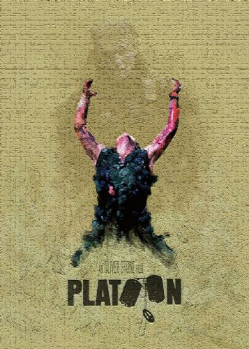 1980's Movie - PLATOON - CREAM CRACK EFFECT canvas print - self adhesive poster - photo print